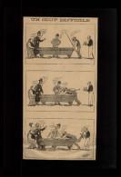 BILLARD - Dessin Issu D´une Revue De 1899 Collé Sur Feuille A4 - Vieux Papiers