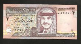 JORDAN / GIORDANIA - CENTRAL BANK Of JORDAN - 1/2 DINAR ( 1993 ) King Hussein Of Jordan - Giordania