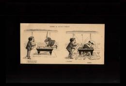 BILLARD - Dessin Issu D´une Revue De 1905 Collé Sur Feuille A4 - Vieux Papiers