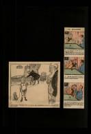 BILLARD - Dessins Issus De Revues De 1901 Et 1911 Collés Sur Feuille A4 - Vieux Papiers