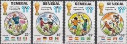 "SENEGAL 671-4+Block 31(675-6)+Block 32(677-8) ""Fußball-Weltmeisterschaft Argentinien 1978"" MNH / ** / Postfrisch - Senegal (1960-...)"