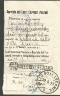 VIT.E.III.206/207--- STORIA POSTALE,  RICEVUTA  CONTI CORRENTI, FEDERAZIONE FASCISTA  DEI TRASPORTI TERRESTRI E DELLA NA - Historische Dokumente