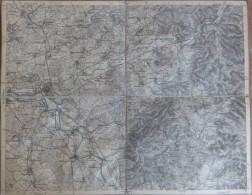 Hanau - Topographische Karte Mit Leinenverstärkten Falzen 30cm X 38cm - Topographische Karten