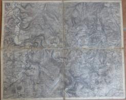 Uslar - Topographische Karte Mit Leinenverstärkten Falzen 30cm X 36cm - Topographische Karten
