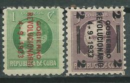 CUBA  Scott# 317/318 MLH Revolutionary Junta - Cuba