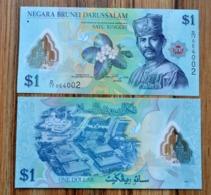Brunei, 1 Ringgit / Dollar 2011 P-35a UNC CURRENCY/ BILL Polymer Note Sultan - Brunei