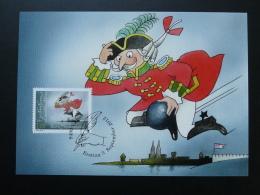 Carte Maximum Card Baron Von Munchhausen BD Oskar Weiss Liechtenstein 2012 Ref 353 - Bandes Dessinées