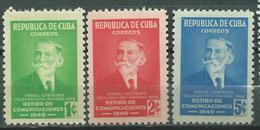 CUBA  Scott# 438/440 ** MNH Ismael Cespedes - Cuba