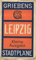 Griebens Stadtpläne Leipzig 1926 - Kleine Ausgabe 46cm X 60cm 1:12´500 - Handschriftliche Einträge Der Straßenbahnen - Topographische Karten
