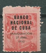 CUBA  Scott# 448 ** MNH National Bank Of CUBA - Unused Stamps