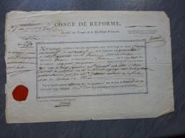 REVOLUTION,  ARRAS 24 è Infanterie, François Cassneuf Né à Paris, Août 1793, Cachet De Cire ; Ref  500 07 - Documents Historiques