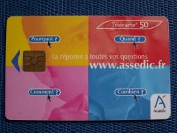 """""""""""  ASSEDIC //   750.000  Ex.  """""""" - Phonecards"""