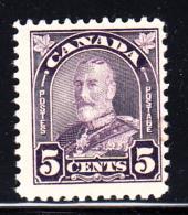 Canada MNH Scott #169a 5c George V Arch Issue Flat - Neufs