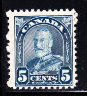 Canada MNH Scott #170i 5c George V Arch Issue Milky Blue - Neufs
