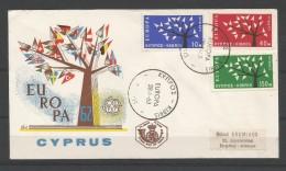 CYPRUS  207/09  FDC  CEPT 1962   (Modèle Rare - Europa-CEPT
