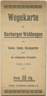 Wegekarte Der Harburger Waldungen - Haake Emme Rosengarten Und Der Umliegenden Ortschaften - 38cm X 40cm 1:30'000 Verlag - Karten