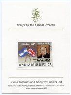 Honduras, 1979, Rowland Hill, Flags, Imperforated Printer´s Proof On Card, Michel 971 - Honduras