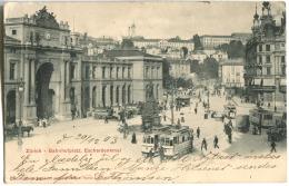 Zürich Bahnhofsplatz Mit Straßenlagen Und Leben 1903 - ZH Zürich