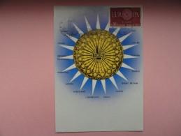 CARTE MAXIMUM CARD  ROSACE DE LA CATHÉDRALE DE STRASBOURG AVEC FLAMME ILLUSTRÉ - Cartoline Maximum