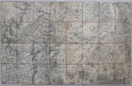 CARTE TOPOGRAPHIQUE ANCIENNE ENTOILEE Alentours CLERMONT-FERRAND -Puy De Dôme - Cartes Topographiques