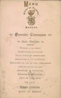 MENU 19 MARS 1898 HOTEL DES FLANDRES BRUGES BELGIQUE PREMIERE COMMUNION - Menus