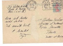 Carte Postale Entier Postal Timbre Semeuse Roty 0,20 Cachet BLOIS 41 Flamme PHILATEC PARIS 1964 Grand Palais Philatélies - Postal Stamped Stationery