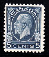 Canada MH Scott #199 5c George V Medallion Issue - Neufs