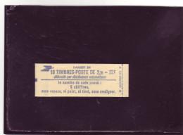 N° 2376C1 - Carnet De 10 - 2,20F Liberté De DELACROIX - Gomme Mate - Non Ouvert - A La Faciale - - Usage Courant