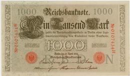 1000 Mark - Allemagne - 21 Avril 1910 - N° 0107434H - Sup - - 1000 Mark