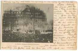PARIS INCENDIE THEATRE FRANCAIS 8 Mars 1900 CPA Oblitérée Le 20 Mars écrite En Danois - Frankreich