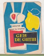 Romanian Small Calendar - 1966 Gem De Gutui - Petit Format : 1961-70