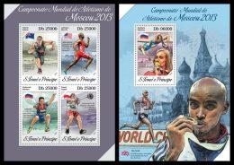 S. TOME & PRINCIPE 2013 - Athletics - YT 4280-3 + BF682; CV = 29 €