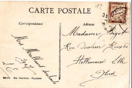 CPA / Postcard / Amour / Couple / Avec Timbre RF Chiffre Taxe 10 Centimes Percevoir / Timbre-taxe De France - France