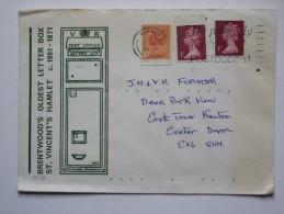 GB 1980`S ILLUSTRATED COVER `BRENTWOOD`S OLDEST LETTER BOX, ST. VINCENT`S HAMLET` - 1952-.... (Elizabeth II)