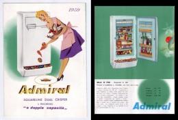 """Brochure ADMIRAL Squareline Dual Crisper. Il Frigorifero """"a Doppia Capacità"""" 1959 - Advertising"""
