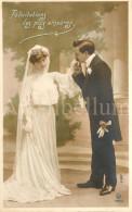 Postcard / CPA / Romantic / Romantique / Amour / Couple / Félicitations Les Plus Sincères / Unused - Noces