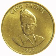 [NC] ZAIRE - 5 ZAIRES 1987 - NON CIRCOLATA (nc1669) - Zaïre (1971-97)