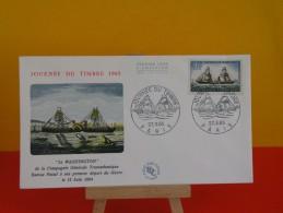 FDC, Journée Du Timbre 1965, Poste Maritime Française - Paris - 27.3.1965 - 1er Jour - Coté 4 € - FDC