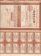 ACTION INDELIM ME AUBRON NOTAIRE 1931 - Electricité & Gaz