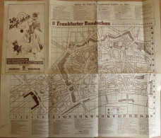 Frankfurt Am Main - Der Einkaufsplan Von Frankfurts Stadtzentrum - 50cm X 60cm - Rückseitig Werbung - Karten