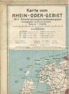 Karte Vom Rhein-Oder-Gebiet 1947 - Teil I Britische- Und Sowjetische Besatzungszone - 58cm X 83cm 1:1000'000 - Herausgeb - Karten
