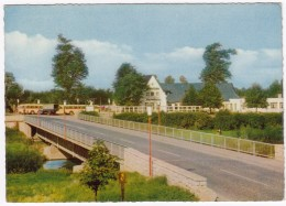 Jülich: ALTE LKW, 3x AUTOBUS/COACH - Rurbrücke - (1961) - Passenger Cars
