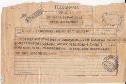 TELEGRAMME SENT FROM CLUJ NAPOCA TO BRASOV, 1929, ROMANIA - Télégraphes