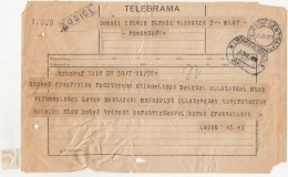 TELEGRAMME SENT FROM CLUJ NAPOCA TO KOSICE, 1929, ROMANIA - Télégraphes