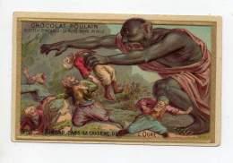 Chromo - Chocolat Poulain (gaufré) - Simbad Le Marin Dans La Caverne De L'ogre - Poulain