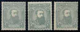 N° 10, 50c Gris, Léopold II De 3/4, En Trois Belles Nuances - 1884-1894 Precursori & Leopoldo II