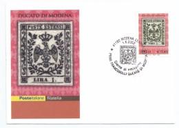 "2002, Poste Italiane - Viterbo -  ""Primi Francobolli Del Ducato Di Modena"". - Italia"