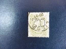 Belgique :Timbre N°59  Perforé  : C.Z  Oblitéré - 1934-51