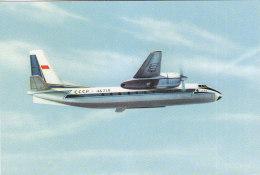 Russia Aeroflot Turboprop Antonov AN 24 Airline Issue Postcard - 1946-....: Moderne