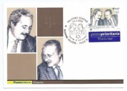 """2002, Poste Italiane - Palermo - Giovanni Falcone E Paolo Borsellino """"X Anniversario DellaStrage Di Capaci"""". - Non Classificati"""